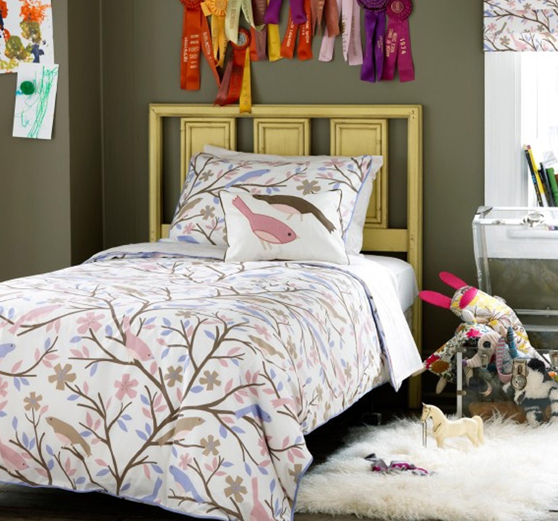 linge de lit aux oiseaux frenchy fancy. Black Bedroom Furniture Sets. Home Design Ideas