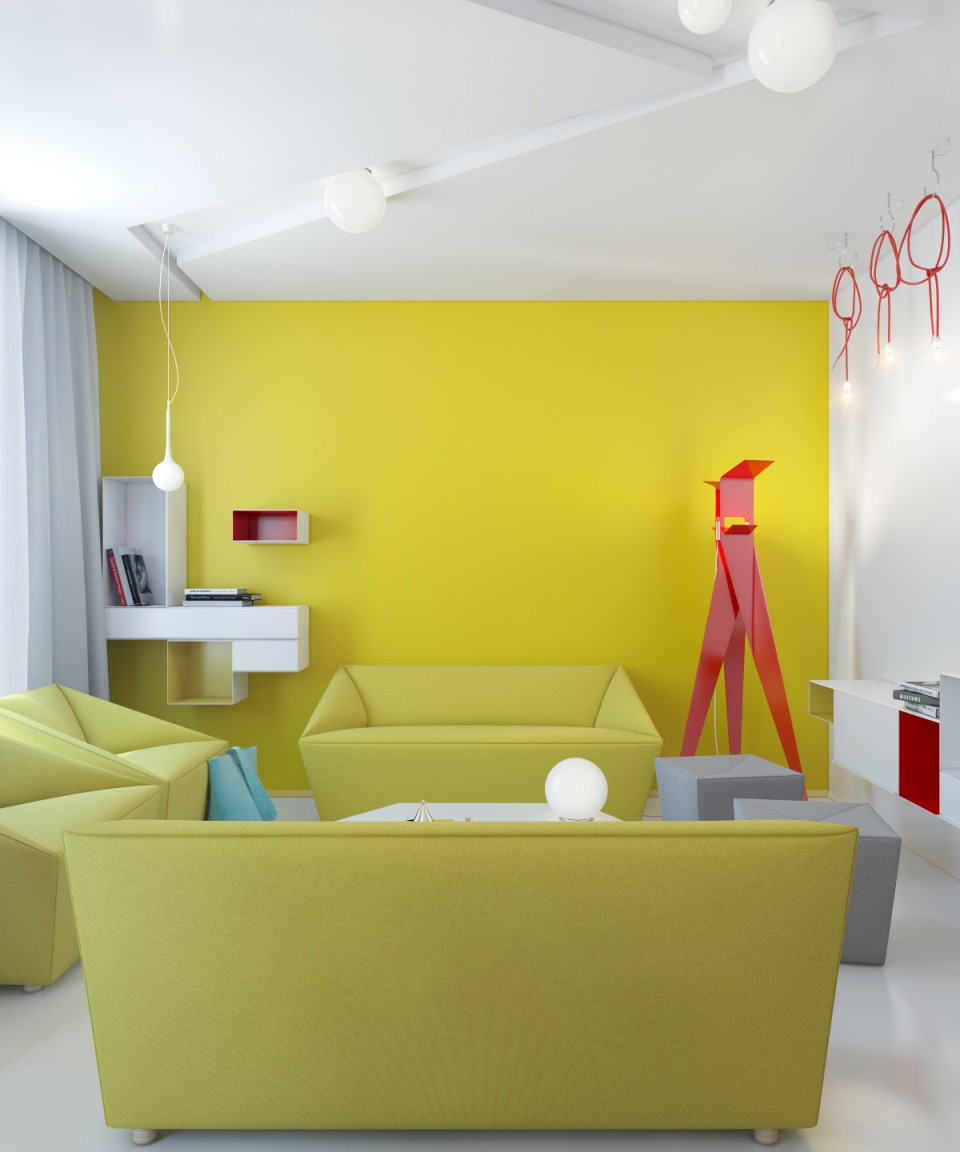 Canapé géométrique