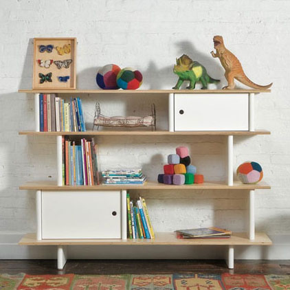 Bibliothèque design pour une chambre d'enfant