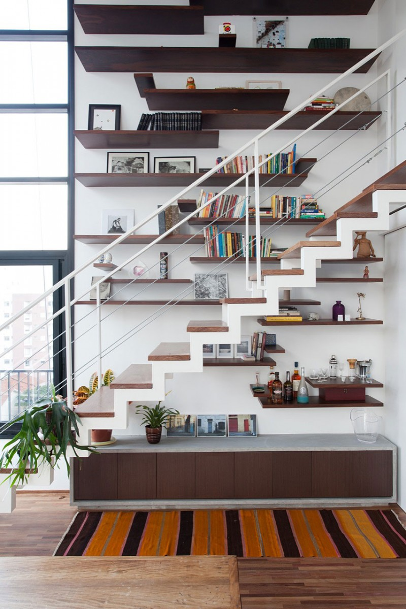 L'escalier de ce duplex modulable