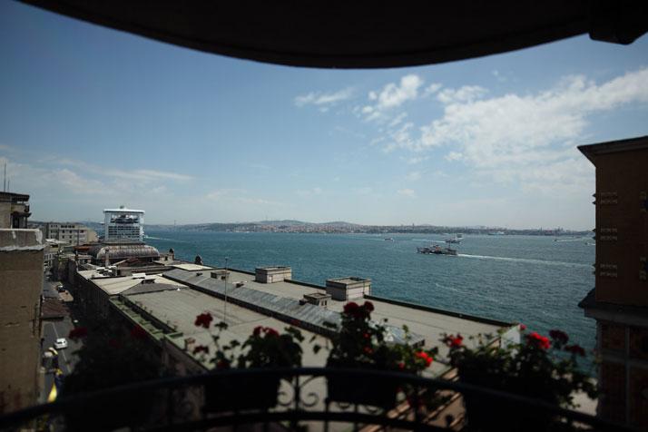 La vue depuis les chambres du Karaköy Rooms
