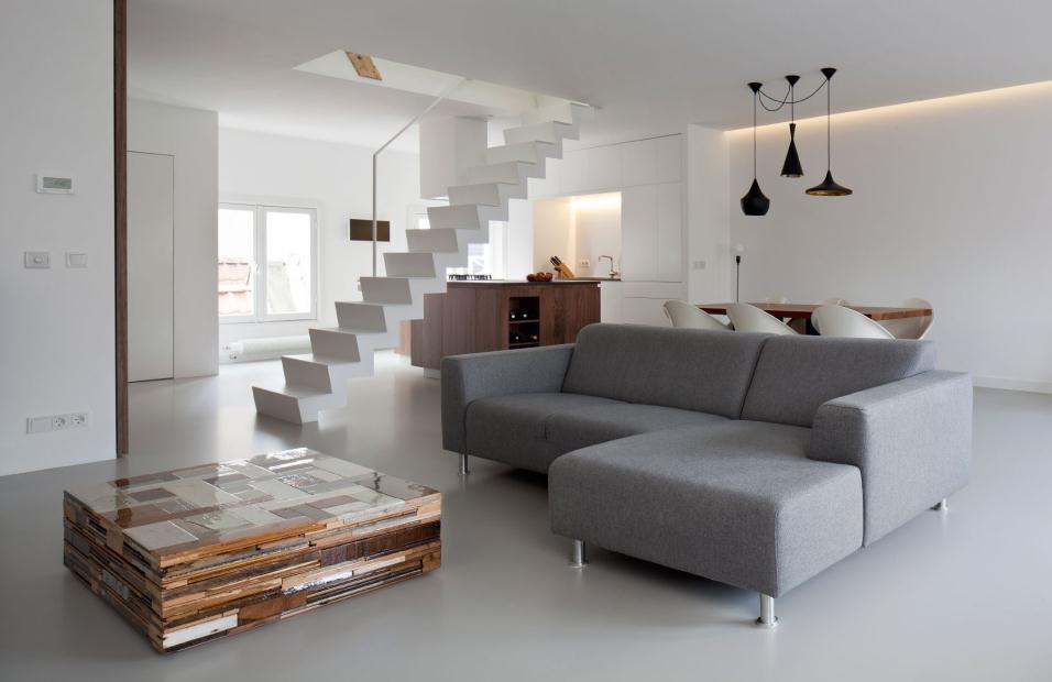 Ambiance minimaliste pour ce loft