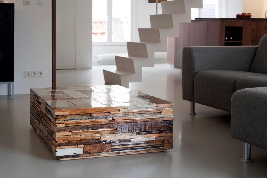 Table basse en bois de récupération