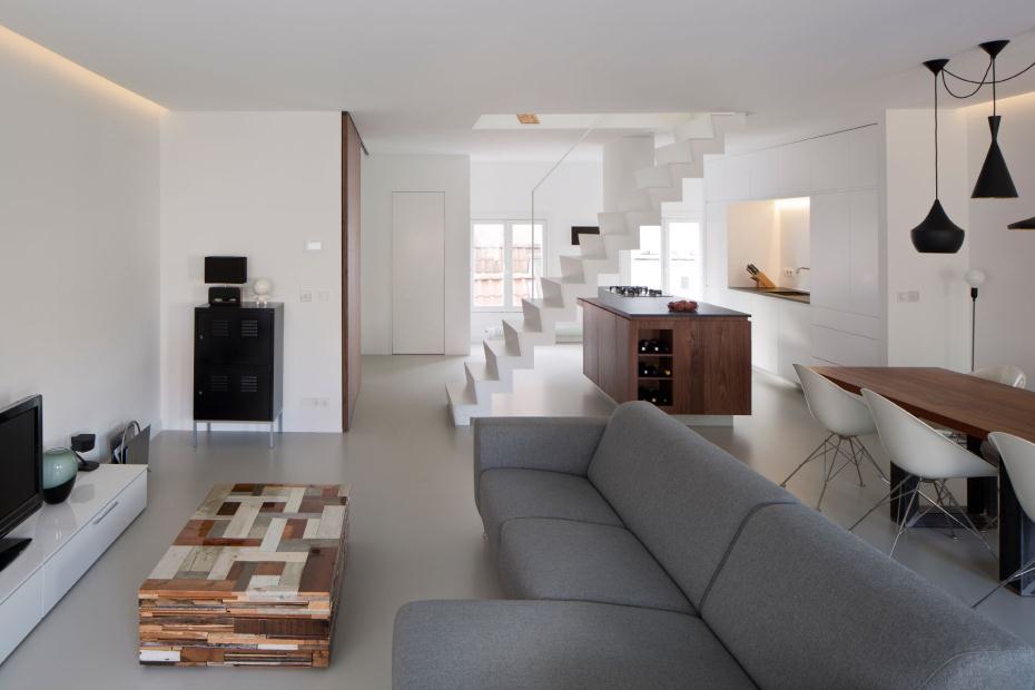 Un loft dans l 39 esprit minimaliste frenchy fancy for Interior design wohnzimmer
