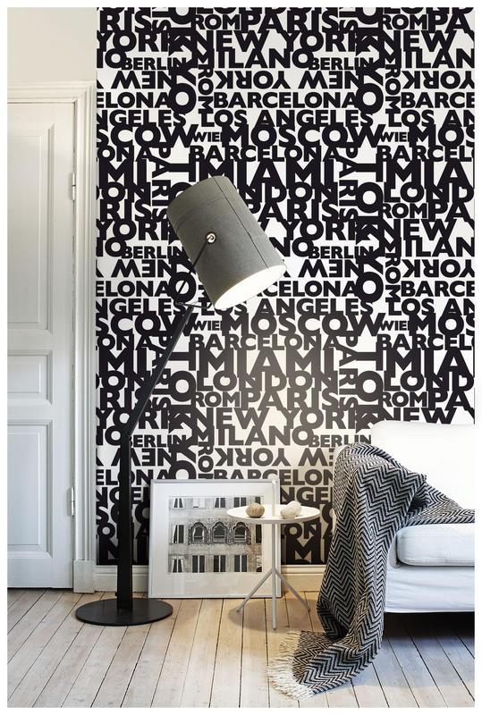 Papiers peints typographique