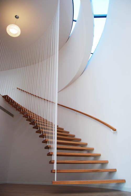 Un escalier très aérien