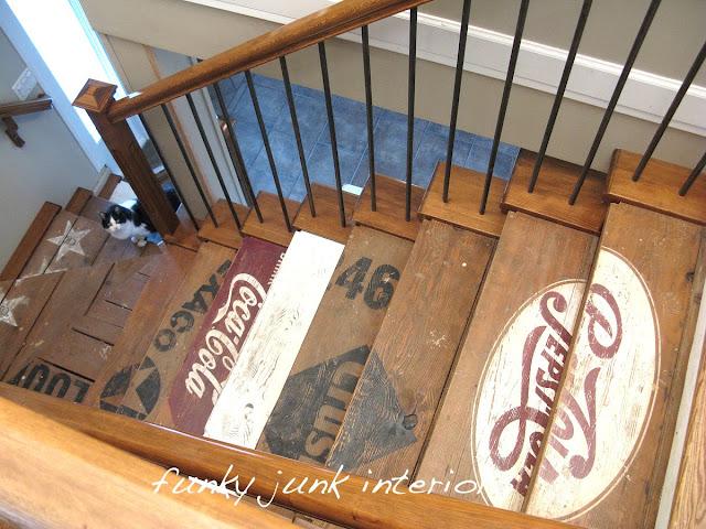 Escaliers façon récup'