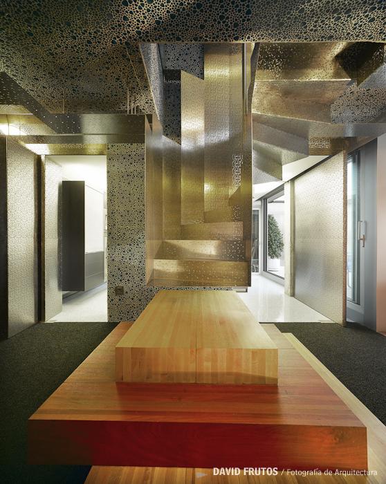 Escalier en métal pour un côté très contemporain
