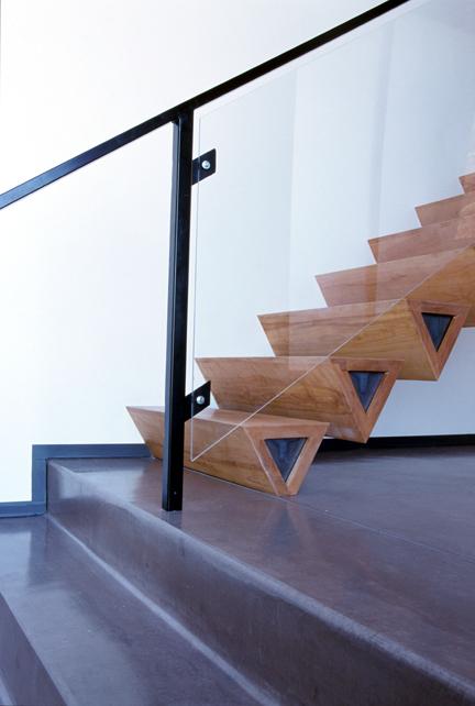 Des marches aux formes géométriques