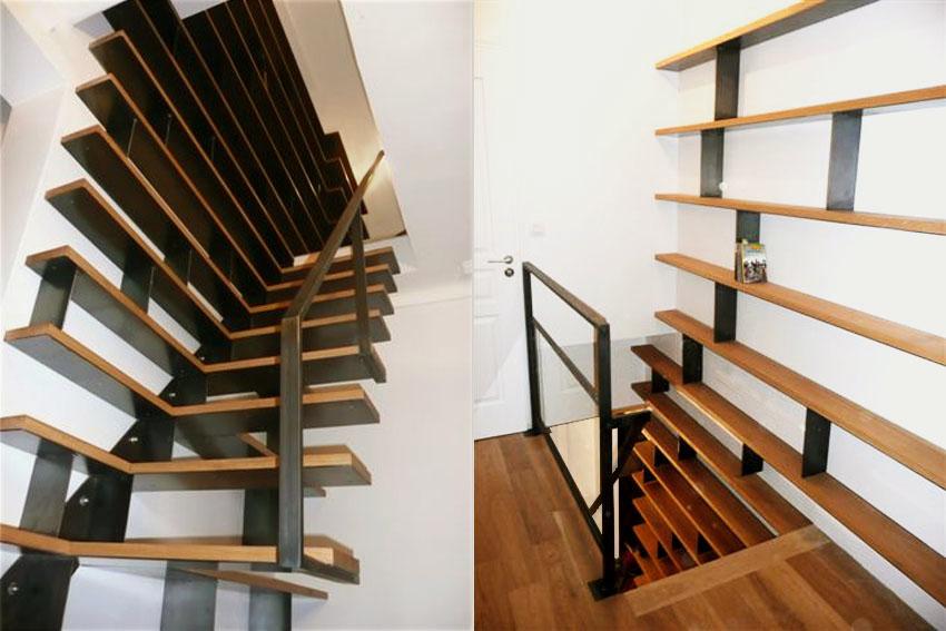 Escaliers bibliothèques