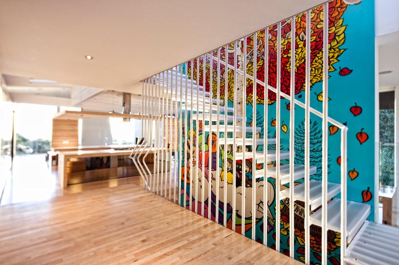 Escalier à vocation décorative