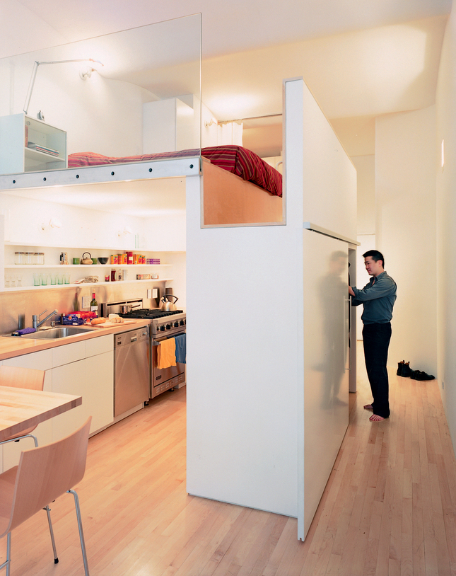 Petit volume bel agencement frenchy fancy - Agencement petit appartement ...