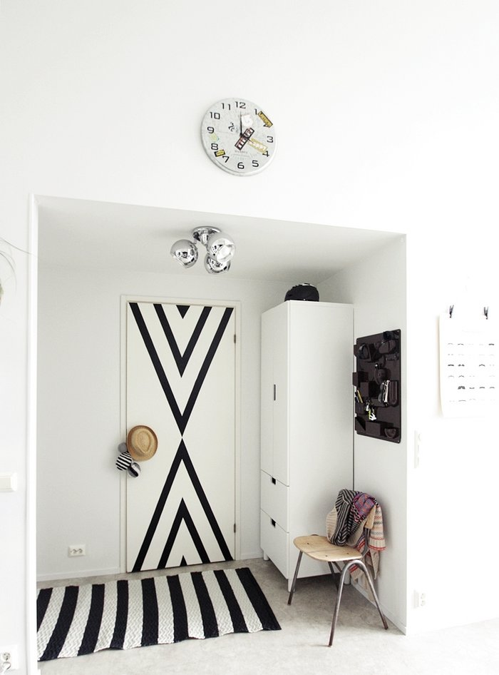 Un int rieur noir et blanc frenchy fancy for Interieur noir et blanc