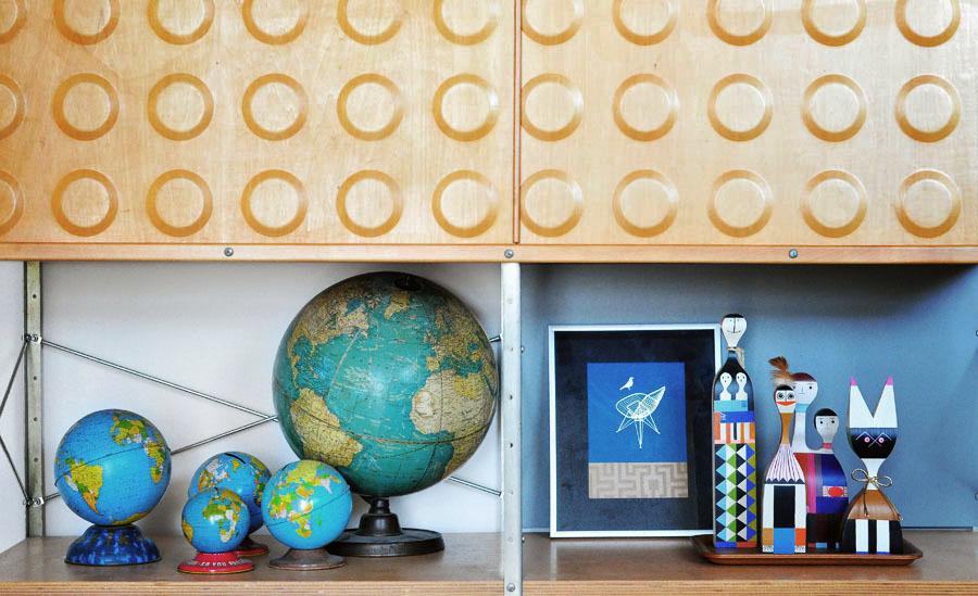 Accumulation de globes vintage