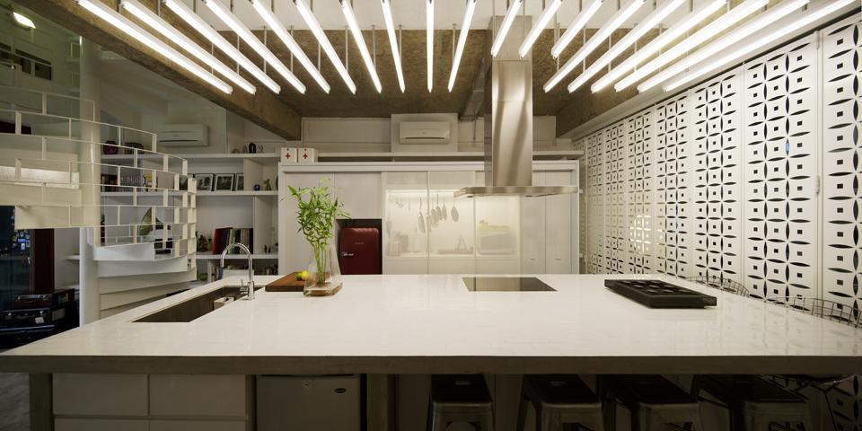 Dans la cuisine, une décoration épurée