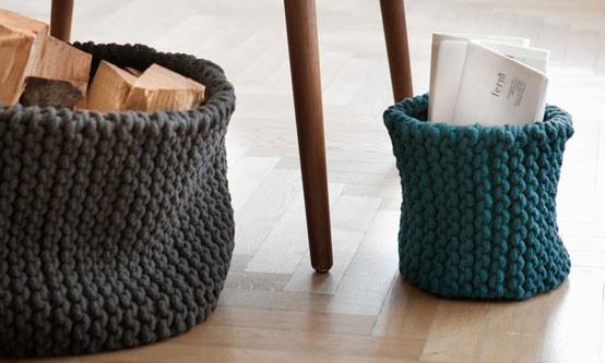 Une de mes envies du moment : le panier en tricot !