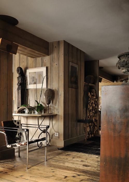 Décoration d'intérieur dans un chalet de luxe