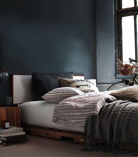 Chambre Gris Bleu Et Blanc : Chambre dans les tons bleus