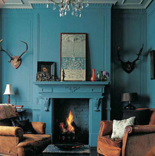 Salon bleu turquoise