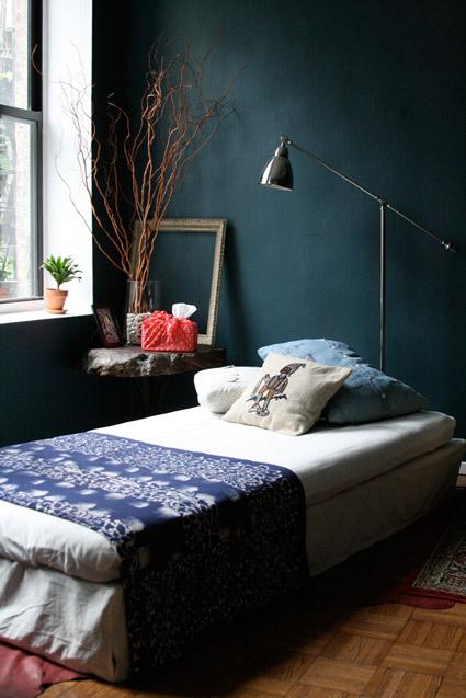 Une chambre dans les tons bleus