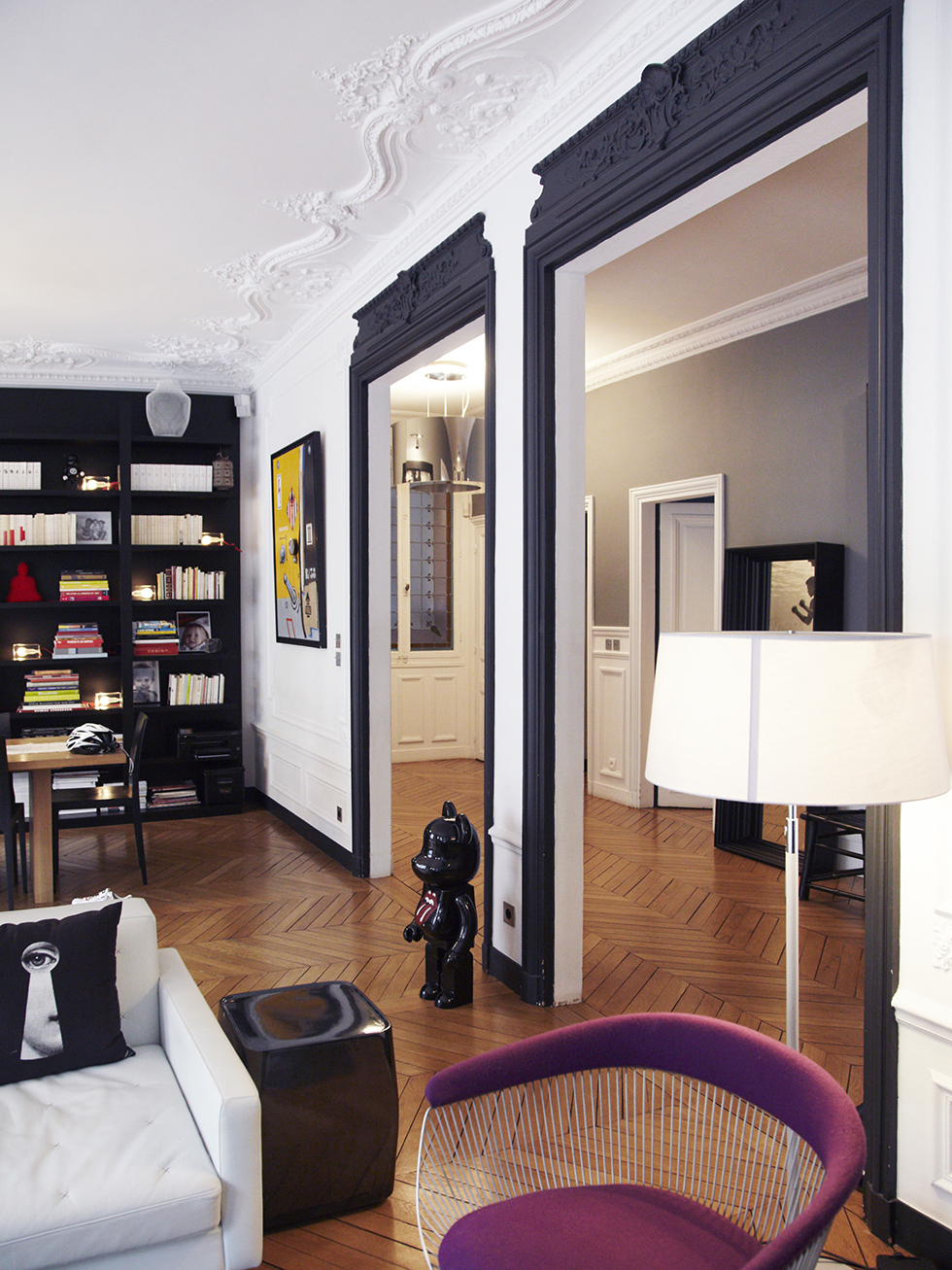 Un int rieur parisien so chic frenchyfancy 2 frenchy fancy - Peinture appartement haussmannien ...