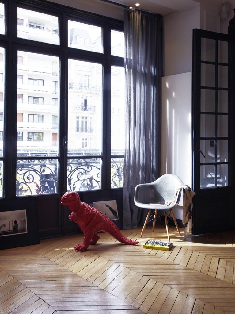 Mélange de styles dans cet intérieur parisien