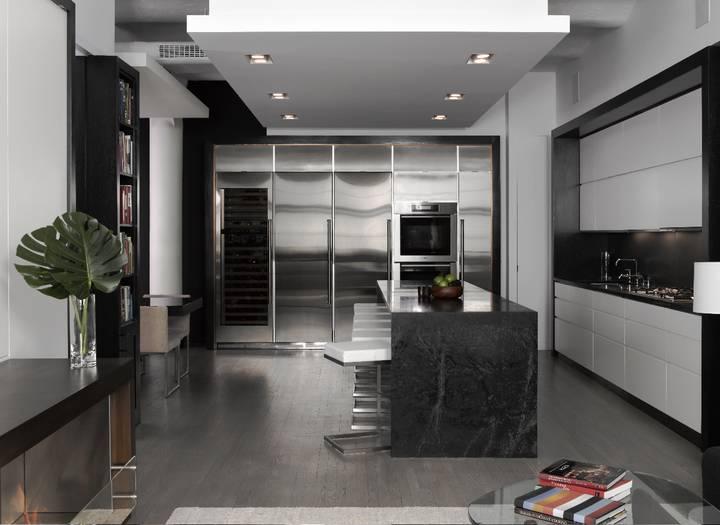 Un loft contemporain en noir et blanc frenchy fancy - Sejour noir et blanc ...