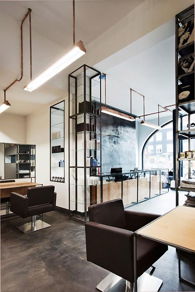 Un salon de coiffure atypique à Amsterdam
