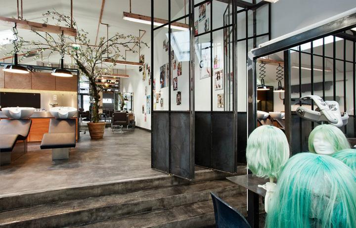 Un salon de coiffure atypique et branch frenchy fancy for Interieur stylist amsterdam