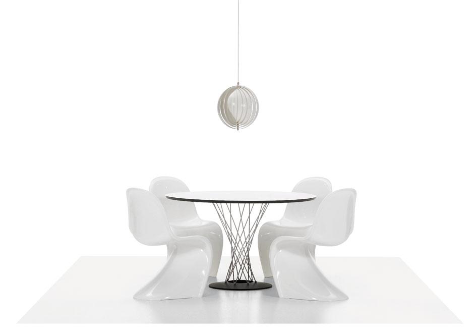 Panton Chair et table signée Isamu Noguchi