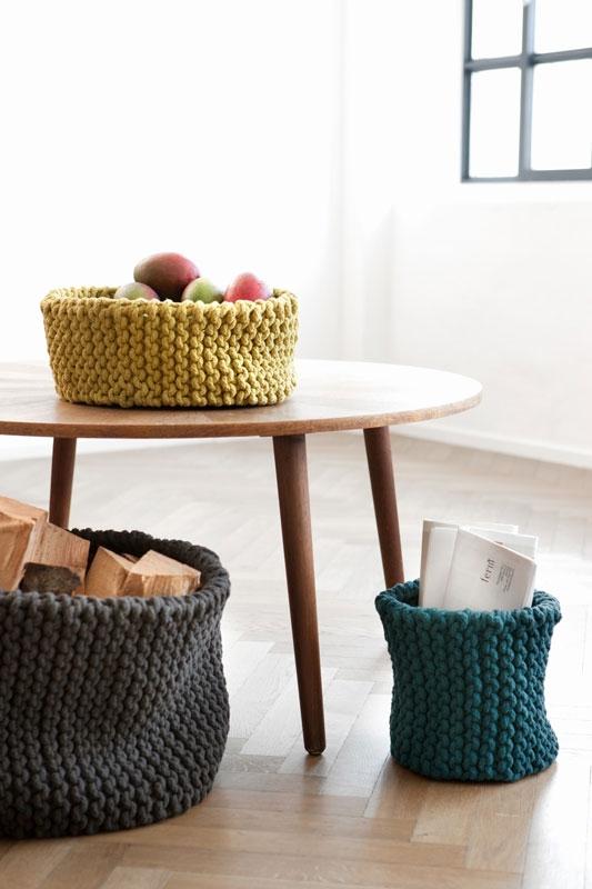 comment tricoter un coussin rond