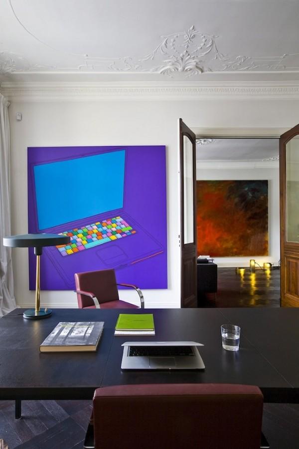 De l 39 art contemporain dans son int rieur frenchy fancy for Interieur contemporain photo