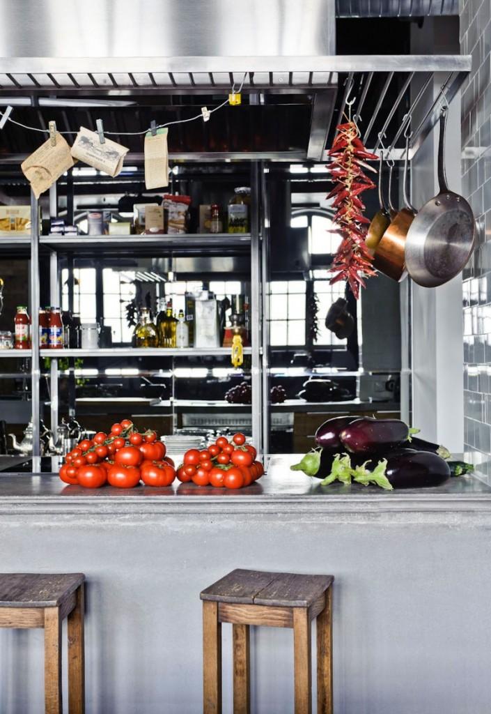 Look industriel pour la cuisine