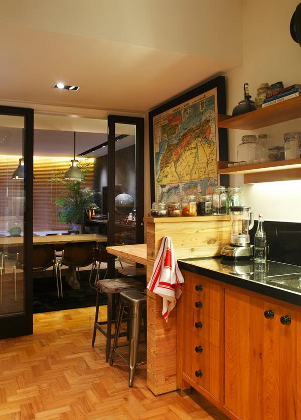 La cuisine de l'appartement