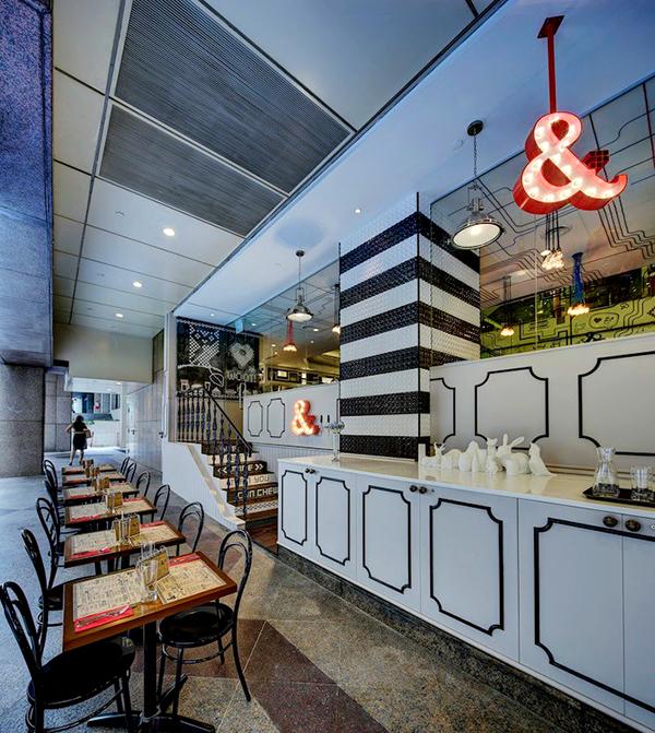 Un restaurant à l\u0027univers graphique, contemporain et vintage
