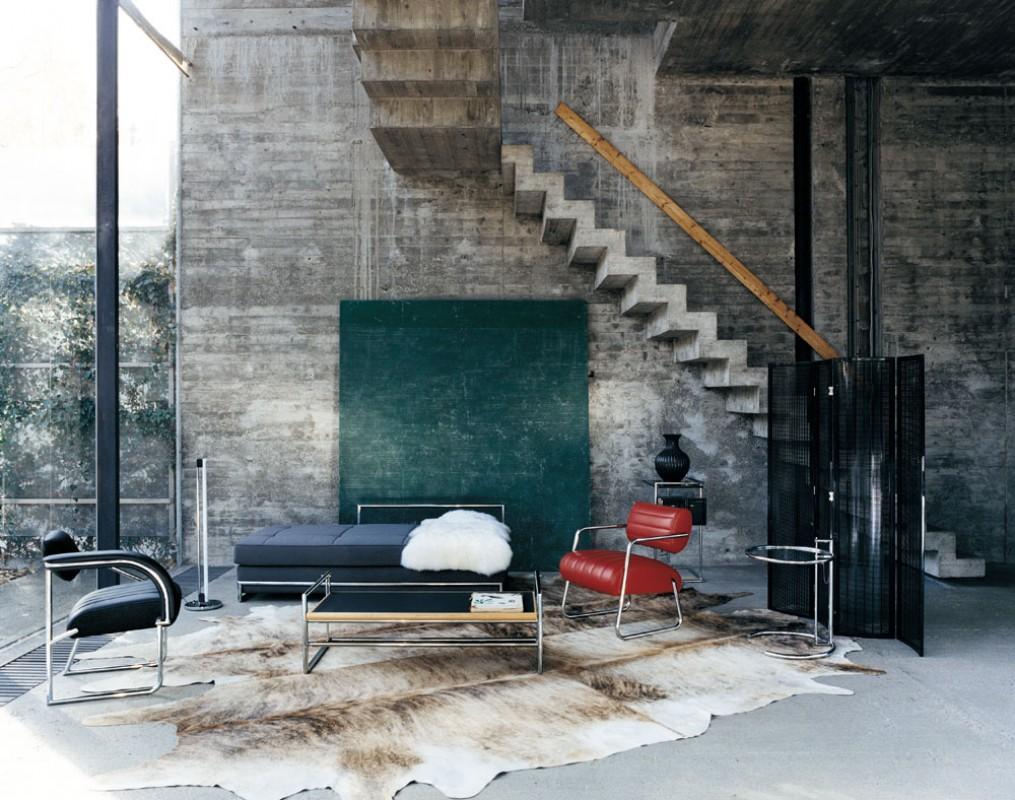 Mobilier design dans un intérieur contemporain