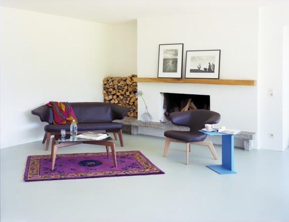 Banquette et fauteuil au style scandinave