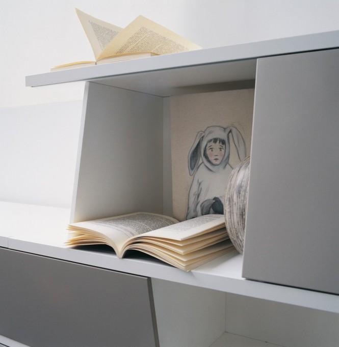 Bibliothèque asymétrique