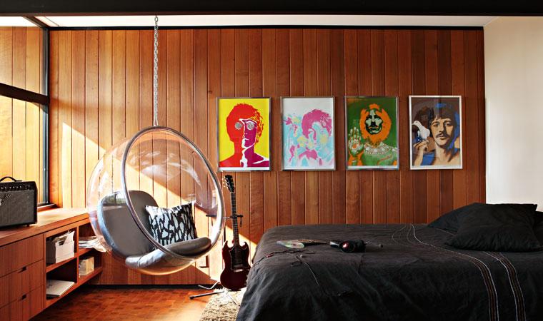 La chambre au style Mid-Century et seventies