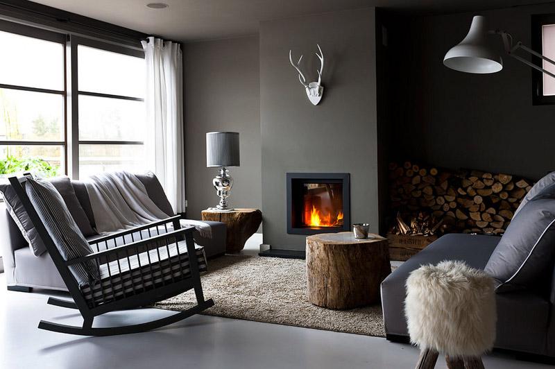 10 lits qui donnent envie de rester sous la couette frenchy fancy - Peau de bete devant la cheminee ...