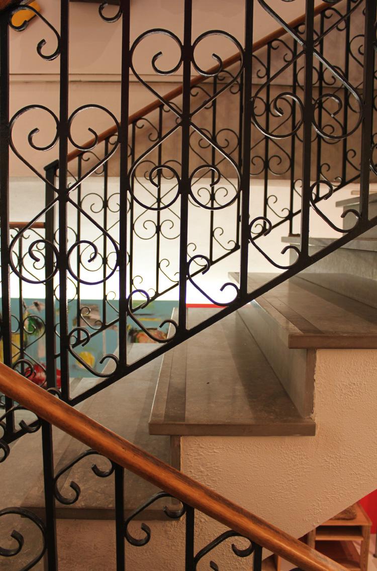 Escalier en fer forgé