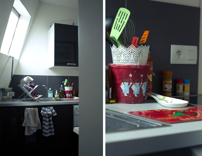 La cuisine, sobre et fonctionnelle