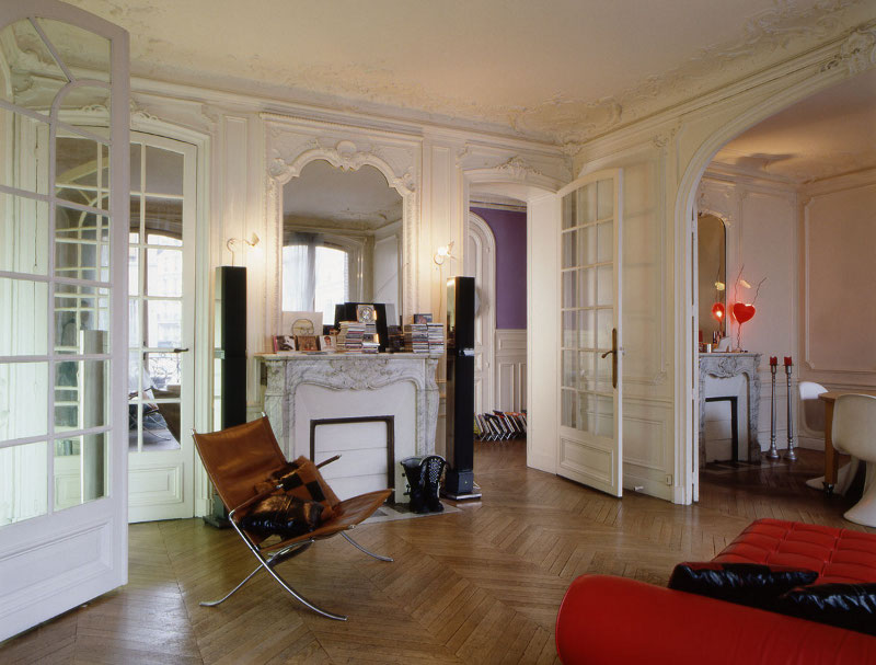 Le style haussmannien revisit frenchy fancy for Cuisine design appartement haussmannien
