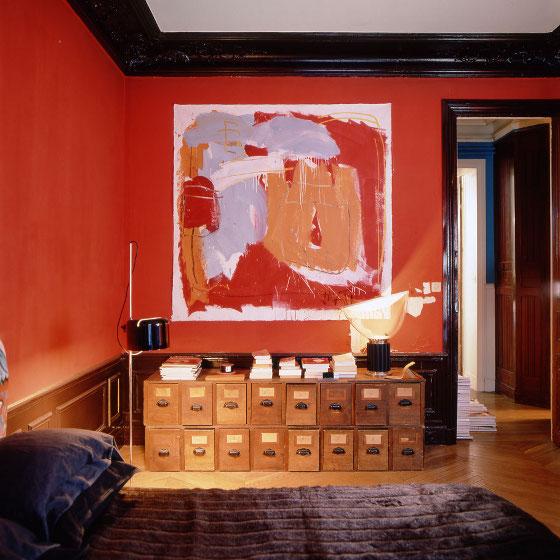 La chambre en rouge et noir