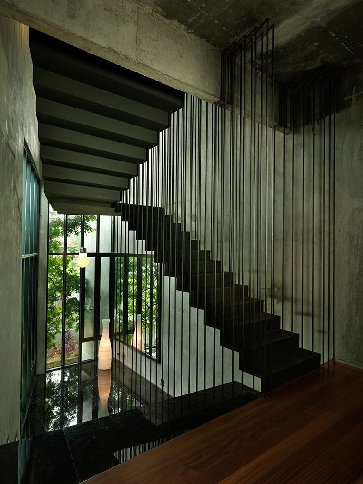 Escalier très sculptural