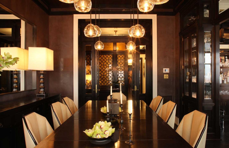 Ambiance orientale dans la salle à manger