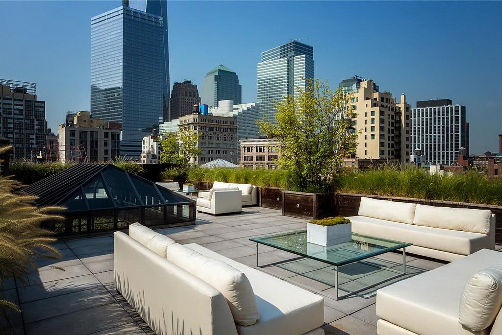 La terrasse avec vue sur Manhattan