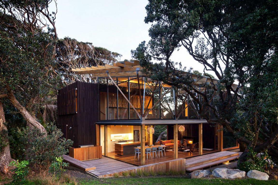La maison est en parfaite harmonie avec le paysage