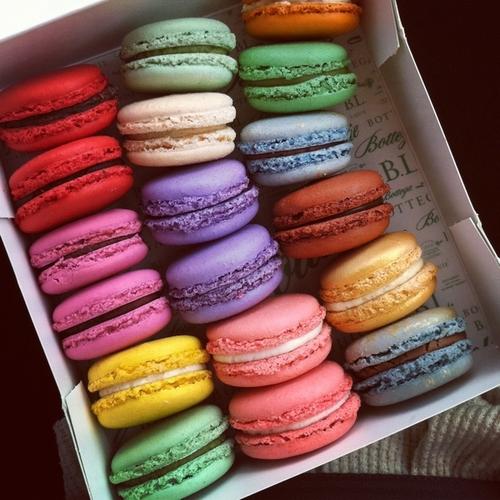 Macarons de toutes les couleurs
