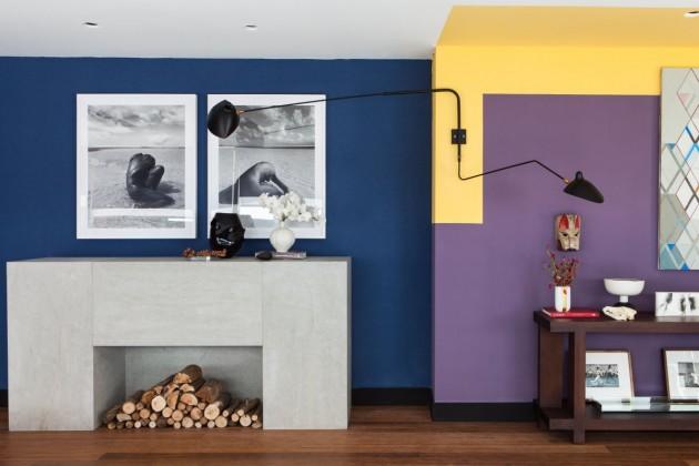 Pan de mur de différentes couleurs